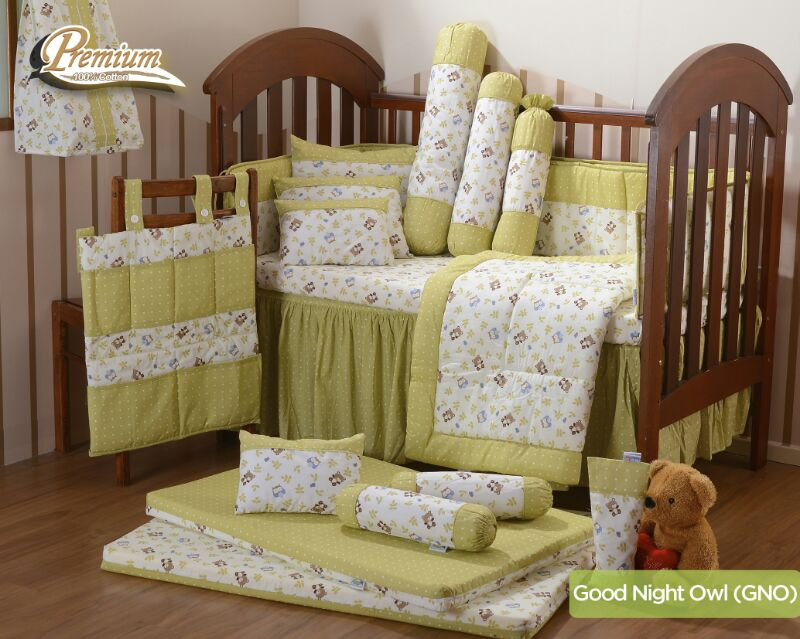 premium bedding set good night owl