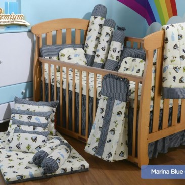 Premium Bedding Set – Marina Blue (MRB)