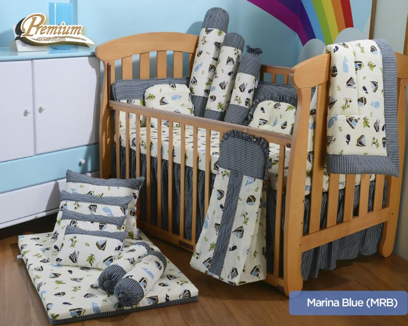 premium bedding set marina blue